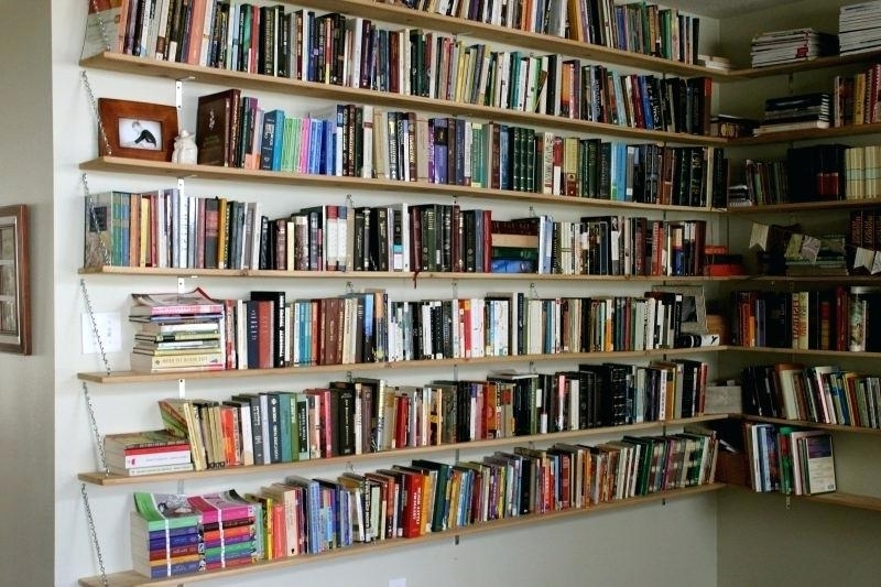 Home Library Shelving System With Regard To Fashionable Home Library Shelving Systems Wall Mounted Library Book Storage (View 8 of 15)