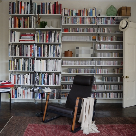 Home Library Shelving Systems Regarding Trendy Home Library: Modern Bespoke Shelves — Goannatree (View 6 of 15)
