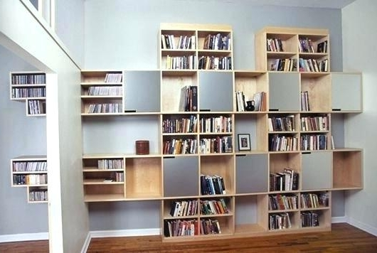 Home Library Shelving Systems Wall Mounted Library Book Storage Intended For Fashionable Home Library Shelving Systems (View 7 of 15)