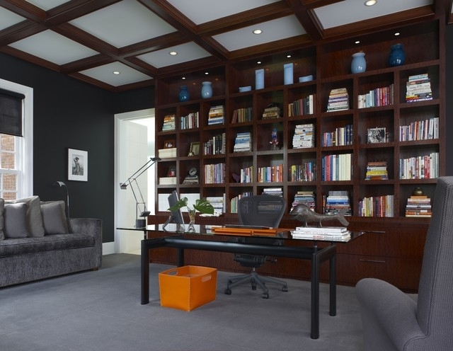 Home Library Wall Units Pertaining To Favorite Library Wall Unit – Contemporary – Home Office – Detroit – (View 3 of 15)