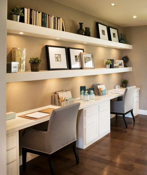 Home Office Space Inside Most Recent Study Shelving Ideas (View 3 of 15)