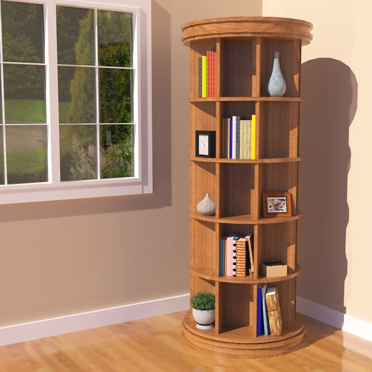 Home Vid Regarding Best And Newest Rotating Bookcases (View 5 of 15)