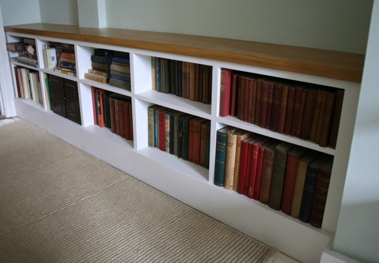 Home Vid Throughout Long Bookcases (Gallery 3 of 15)