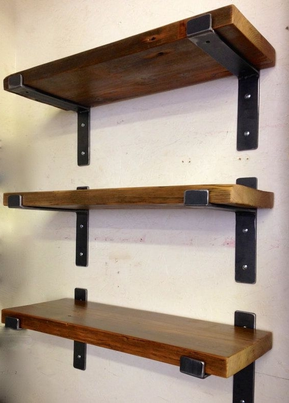 Homely Ideas Wood And Metal Shelves Diy Uk On Wheels Wall Floating Throughout Favorite Wood For Shelves (View 7 of 15)