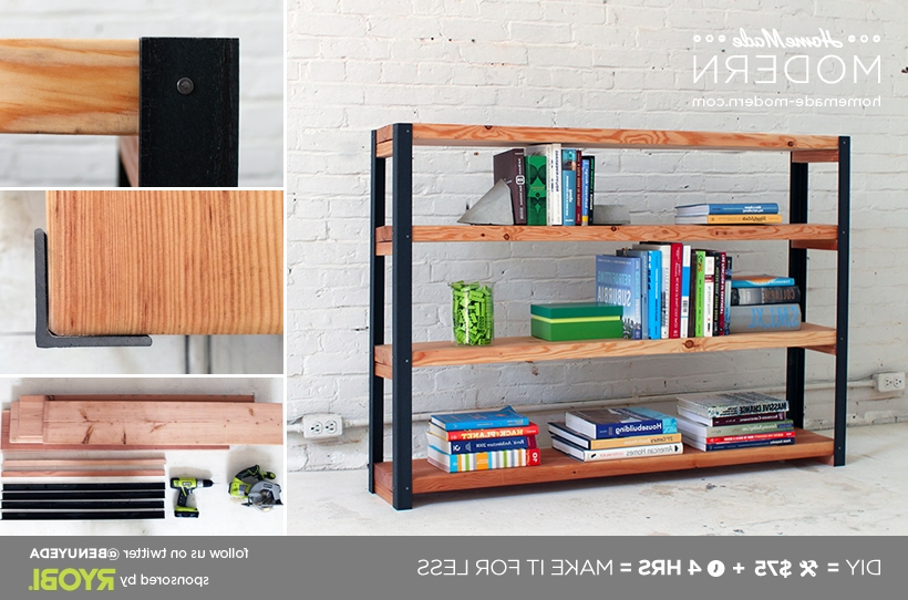 Homemade Modern Ep36 Ironbound Bookcase Within Popular Homemade Bookcases (View 10 of 15)
