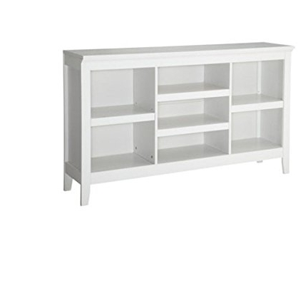 Horizontal Bookcases With Well Liked Amazon: Threshold Carson Horizontal Bookcase, White Finish (Gallery 9 of 15)