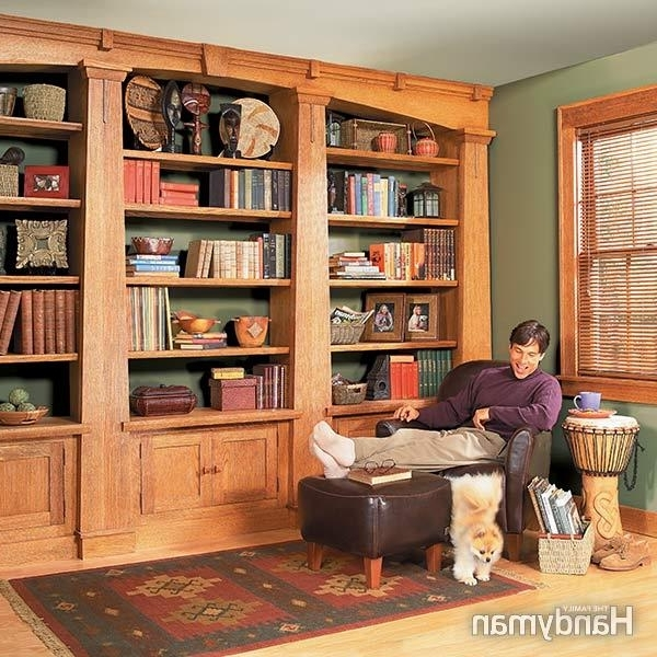 How To Build A Built In Bookshelves — The Family Handuman (Gallery 6 of 15)
