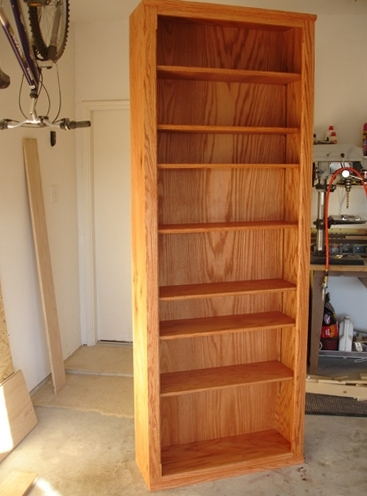 How To: Build A Custom Oak Bookcase (View 3 of 15)