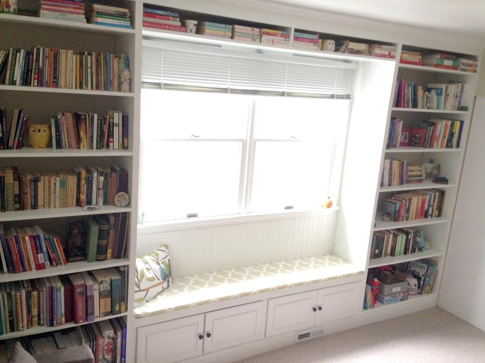 How To Build A Window Seat Bookcase For Preferred Build Built In Bookcases (View 12 of 15)