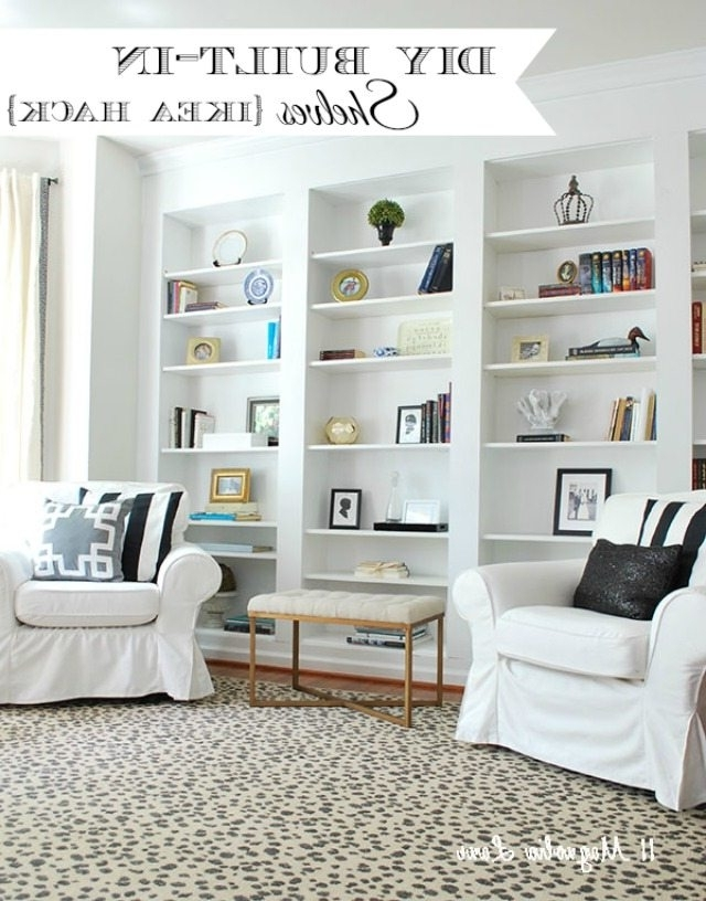 How To Build Diy Built In Bookcases From Ikea Billy Bookshelves Regarding Popular Wall Bookcases (View 4 of 15)