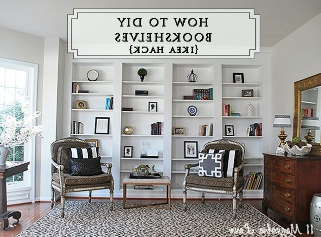 How To Build Diy Built In Bookcases From Ikea Billy Bookshelves Throughout Best And Newest Built In Bookcases (View 10 of 15)