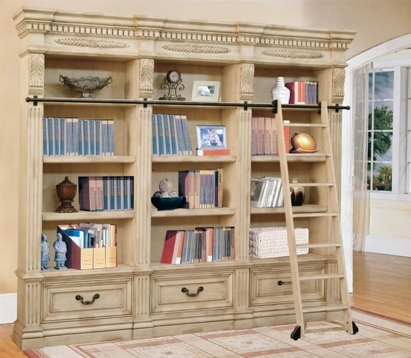 Huge Bookcases For Popular Bookcase: Astounding Cream Bookcase Cottage Retreat Bookcase Bed (View 5 of 15)