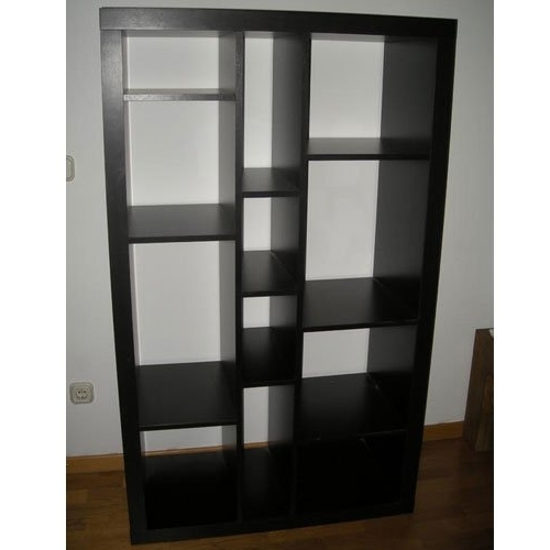 Ikea Expedit Bookcases Throughout Fashionable Amazon: Ikea Expedit Bookcase / Tv Stand Multi Use Black Brown (Gallery 1 of 15)