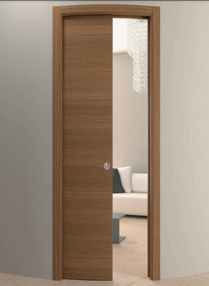 Indoor Door / Pocket / Wooden / Curved – Curved Doors – Gasperoni Regarding 2017 Curved Wardrobe Doors (Gallery 11 of 15)