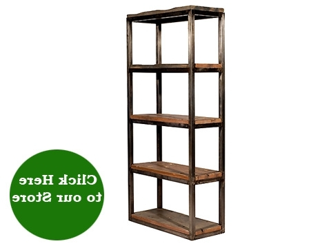 Industrial Reclaimed Wood And Metal Bookcase – Hudson Goods Blog With Regard To Current Reclaimed Wood Bookcases (Gallery 12 of 15)