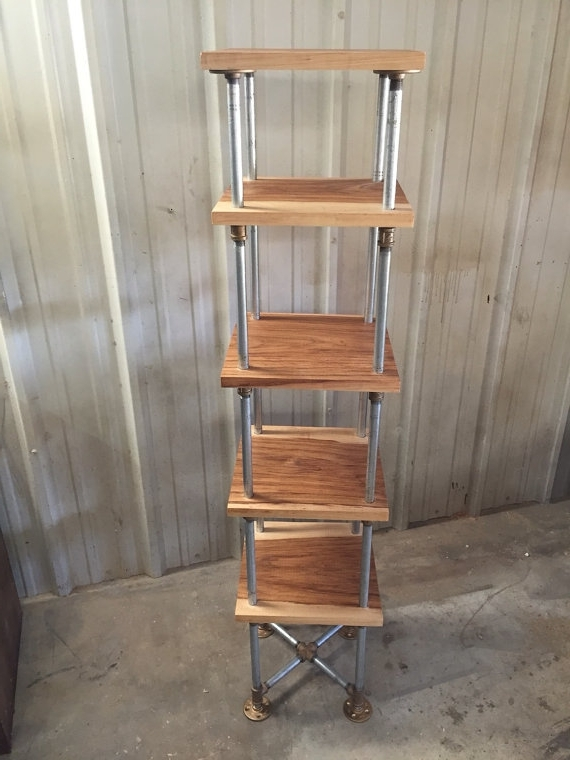 Industrial Shelving Unit Industrial Etagere Freestanding For Most Popular Free Standing Shelving Units Wood (View 7 of 15)