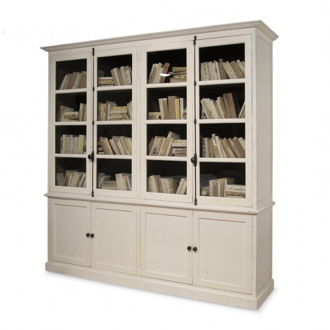 Inga Swedish Four Door Tall Bookcase Cabinet Intended For Preferred Tall Bookcases (View 6 of 15)