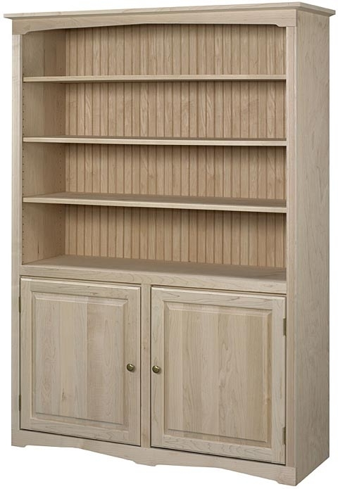 Inspiring Bookcase With Doors Unfinished Bookcases Unfinished Pertaining To Preferred Unfinished Bookcases (View 7 of 15)