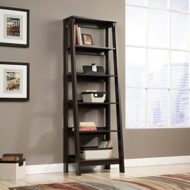 Inspiring Bookcases Ideas Mainstays Leaning Ladder 5 Shelf With Well Liked 5 Shelf Bookcases (Gallery 8 of 15)