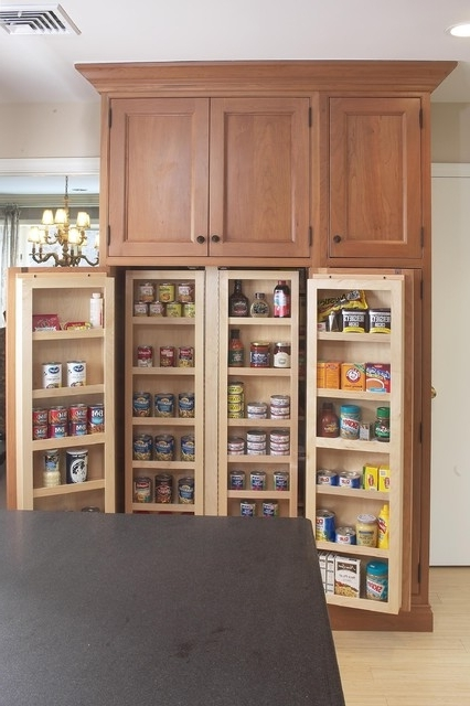 Interior Of Large Pantry Cabinet – Eclectic – Kitchen – Boston With Regard To Latest Large Cupboard With Shelves (View 6 of 15)