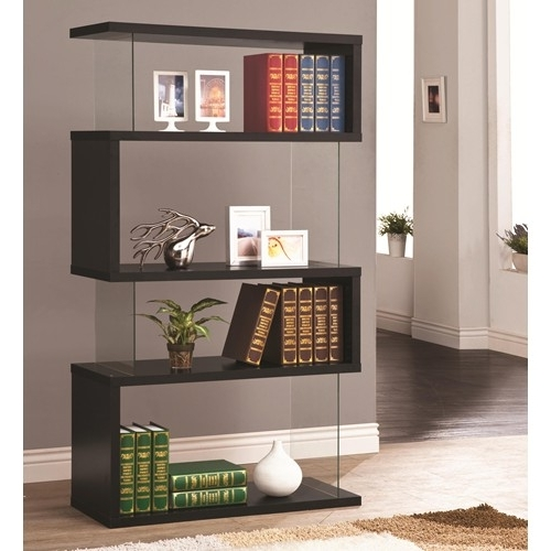 Izzy Backless Bookcase In Black & Glass – Simply Austin Furniture With Regard To Most Recently Released Backless Bookshelves (View 12 of 15)