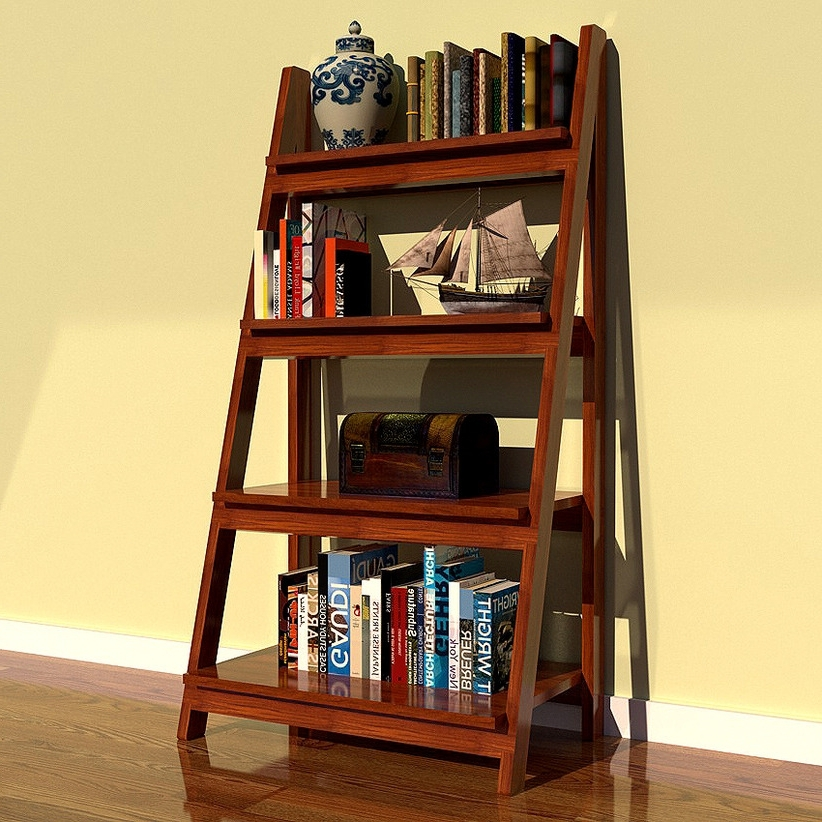 Keep A Style In Your Cornerusing A Ladder Bookcase For Storage Intended For Most Up To Date Ladder Bookcases (Gallery 7 of 15)