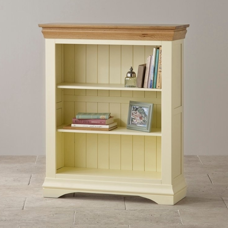 Kemble Rustic Solid Oak And Painted Small Bookcase Oak Furniture With Well Known Painted Oak Bookcases (View 5 of 15)