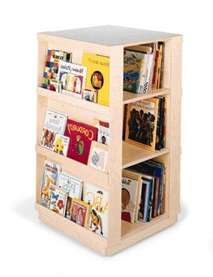 Kids Bookcase – 4 Sided Library Book Display Childrens Bookcases In Fashionable Childrens Bookcases (Gallery 3 of 15)