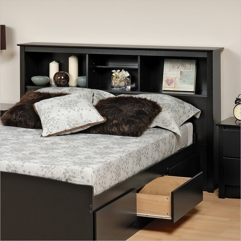 King Size Bookshelf Headboard #2405 Within 2018 King Size Bookcases Headboard (View 6 of 15)
