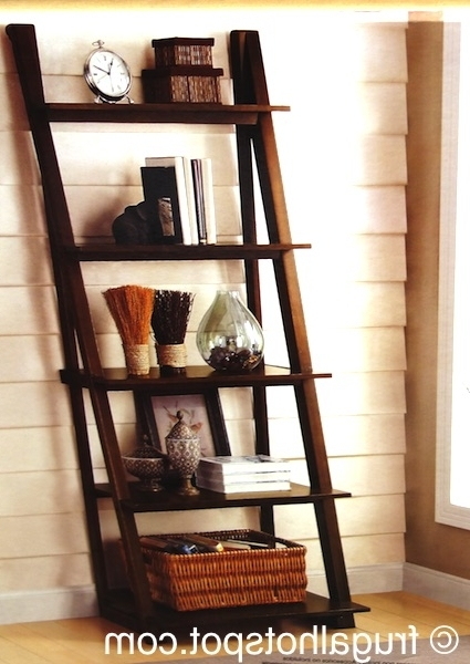 Ladder Bookcases Intended For Well Known Bayside Furnishings Ladder Bookcase Costco (View 15 of 15)