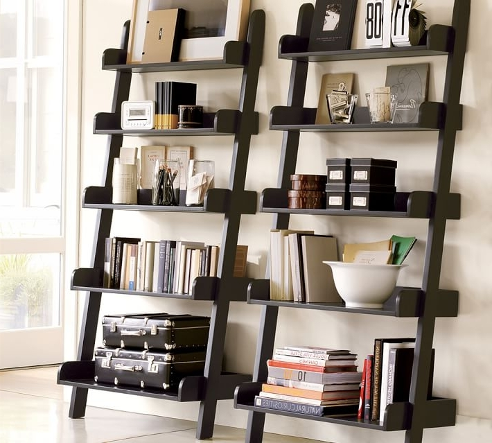 Ladder Bookcases Regarding Fashionable Studio Wall Shelf (View 11 of 15)