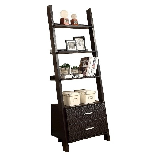 Ladder Bookcases With Drawers Intended For Most Current Ladder Shelf With Drawers – House Decorations (View 4 of 15)