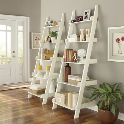 Ladder Shelf Dark Brown $129.95 Each Until May (View 13 of 15)