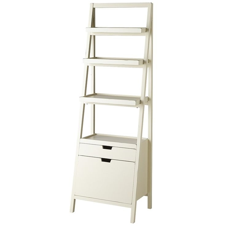 Ladder Shelf With Baskets – House Decorations With Newest Ladder Bookcases With Drawers (View 12 of 15)