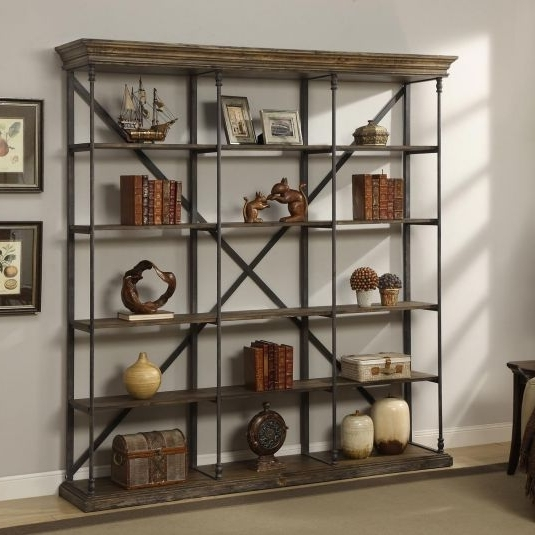 Large Bookcases Throughout Most Recently Released Corbin 5 Shelf Open Bookshelf (View 10 of 15)