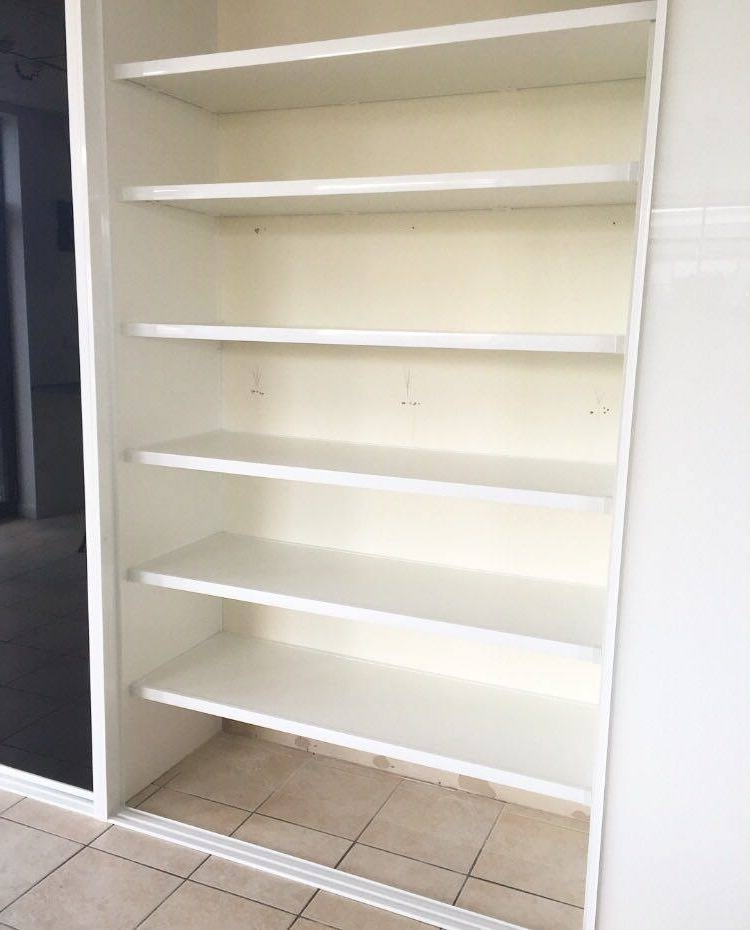 Large Cupboard With Shelves Within Preferred Linen Closet Storage Ideas & Shelves – Oz Wardrobes (View 9 of 15)
