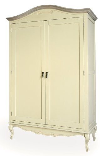 Large Double Rail Wardrobes Regarding Most Popular Juliette Shabby Chic Champagne Double Wardrobe (View 13 of 15)