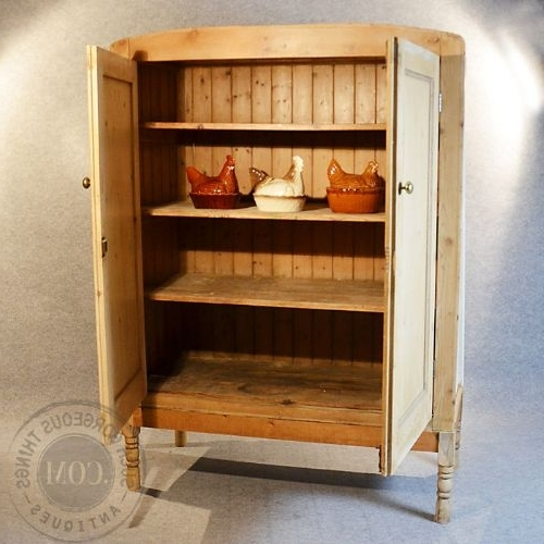 Large Storage Cupboards In Favorite Antique Original Victorian Pine Large Cabinet Larder Storage (View 9 of 15)