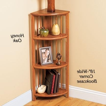 Latest 3 Shelf Narrow Bookcase At Fresh Finds Intended For Corner Oak Bookcases (View 9 of 15)