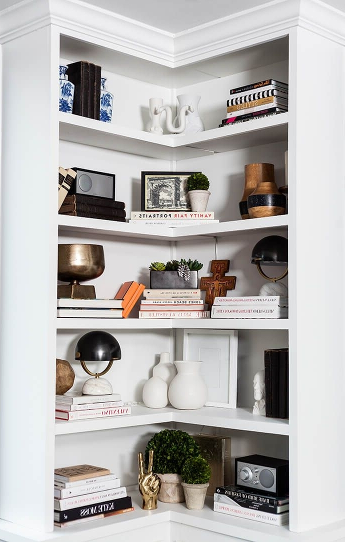 Latest 54 White Corner Book Shelves, White Corner Bookshelves American Inside White Corner Bookcases (View 3 of 15)