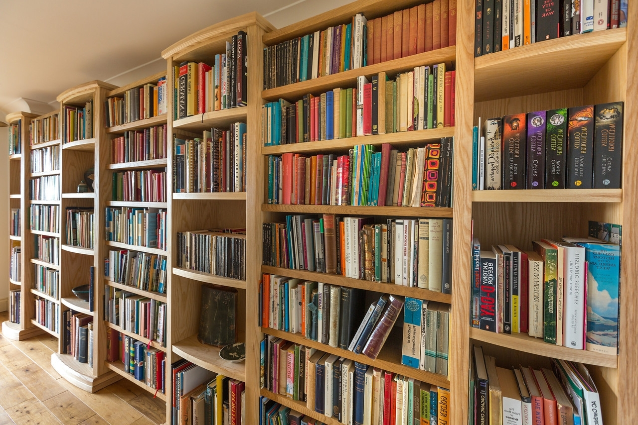 Latest Bespoke Library Shelving – Kirstin Prisk Pertaining To Bespoke Shelving (View 10 of 15)