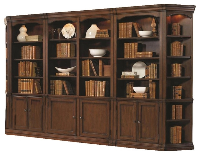 Latest Cherry Bookcases Inside White Bookcase With Doors (View 8 of 15)