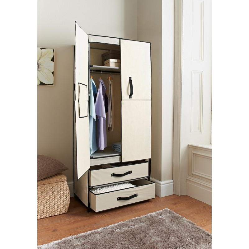 Latest Deluxe Double Canvas Wardrobe (View 5 of 15)