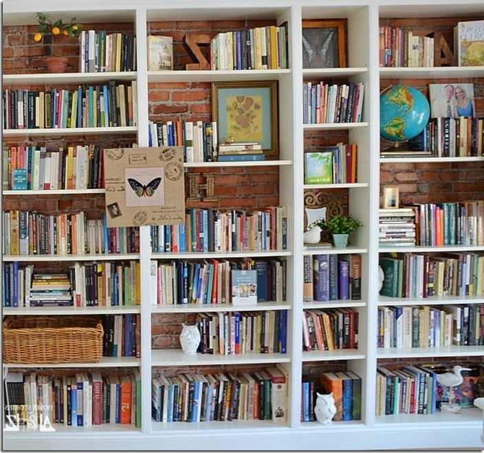 Latest Den Project: Built In Billy Bookcase Ideas – Southern Hospitality Within Wall To Wall Bookcases (View 7 of 15)