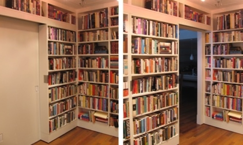Latest Door Bookcases With Regard To How To Build Sliding Bookshelf Door Pdf Plans Bookcase With (View 5 of 15)