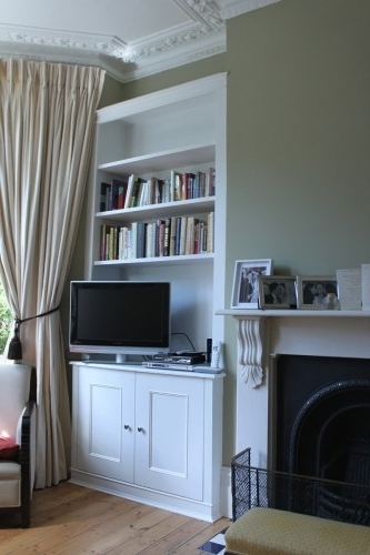 Latest Fitted Alcove Cupboards And Bookshelves, Bespoke Cabinets With Regard To Alcove Bookcases (View 13 of 15)