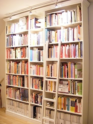 Latest Library Bookcases Lighting Pertaining To Billy Bookcase From Ikea With Crown Molding I Love The Lighting (View 3 of 15)