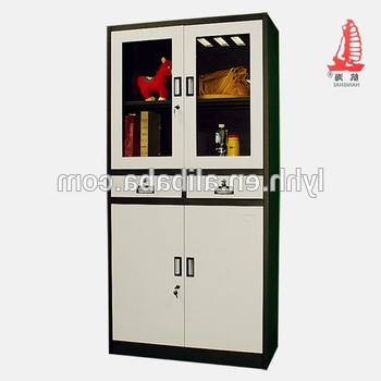 Latest Library Cupboards Regarding 4 Door Library Cupboards Swing Glass Door Drawer File Cabinet Wide (View 5 of 15)