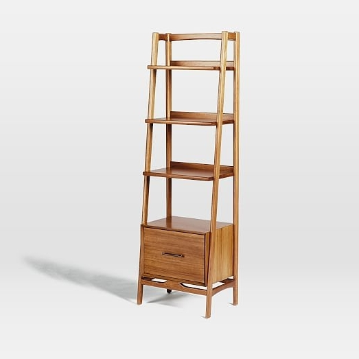 Latest Narrow Bookcases Throughout Mid Century Bookshelf – Narrow Tower (View 11 of 15)