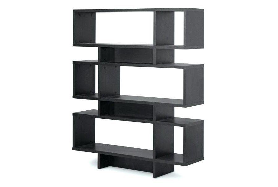 Latest Small Bookcases For Small Modern Bookcase Modern Black Bookcase Studio 6 Level Dark (View 6 of 15)